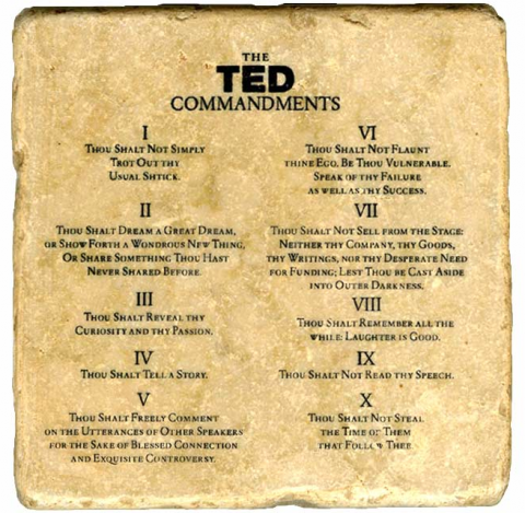 The TED Commandments (reblog swissmiss)