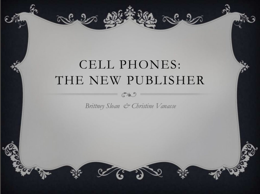 Twitter Novels: The Cell Phone Novel Seminar Presentation