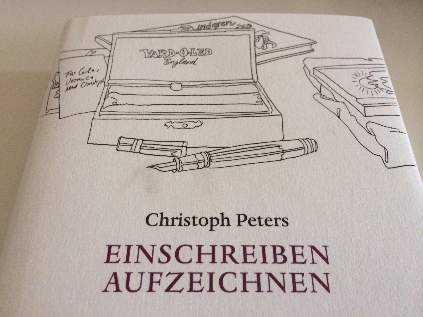 Einschreiben Aufzeichnen.Von Christoph Peters.
