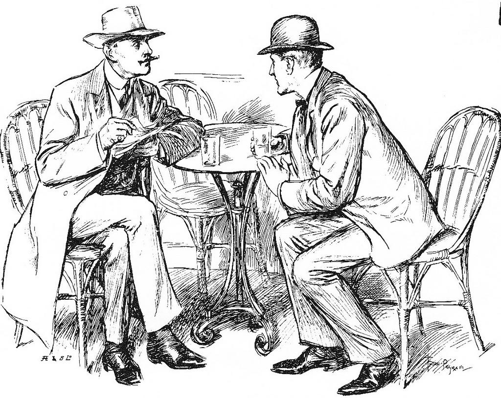 Victorian Gentlemen in Conversation by lovelornpoets on flickr CC BY 2.0