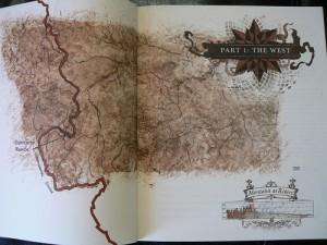 Karte in Reif Larsen - Selected Works of T.S.Spivet