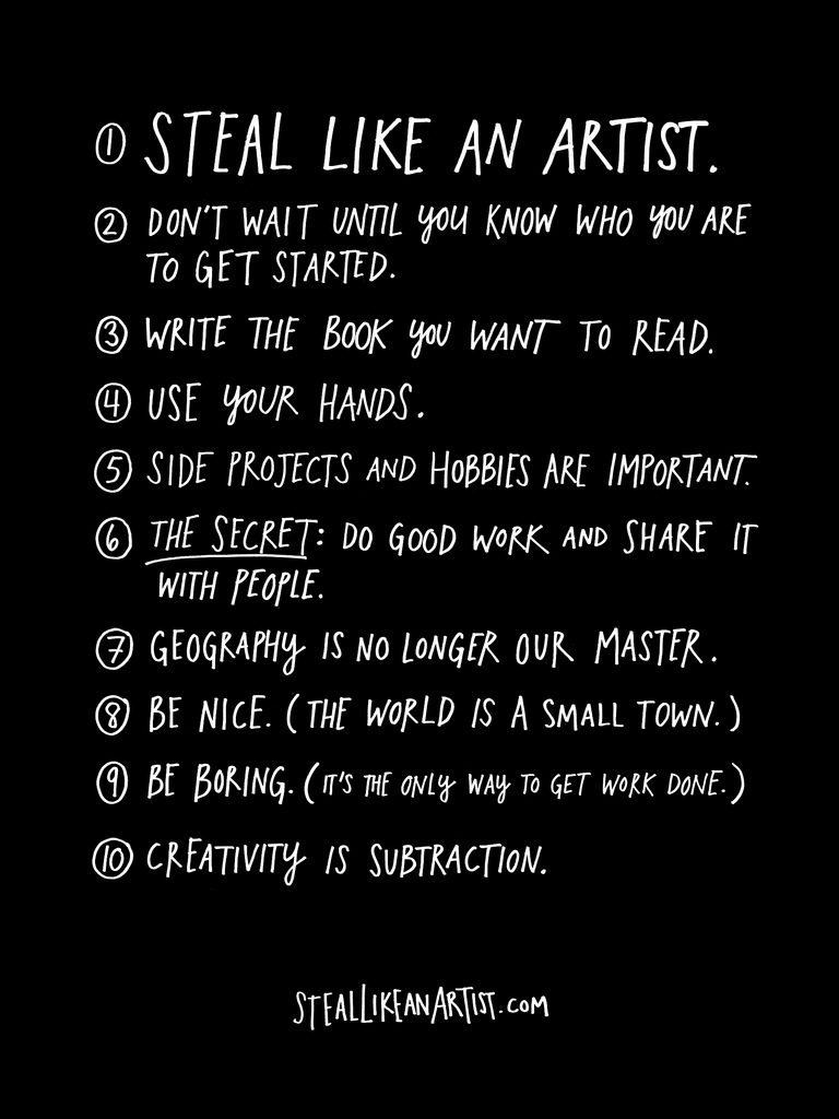 Austin Kleon: steal-like-an-artist